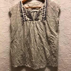 Eddie Bauer Sleeveless V-neck shirt size P M